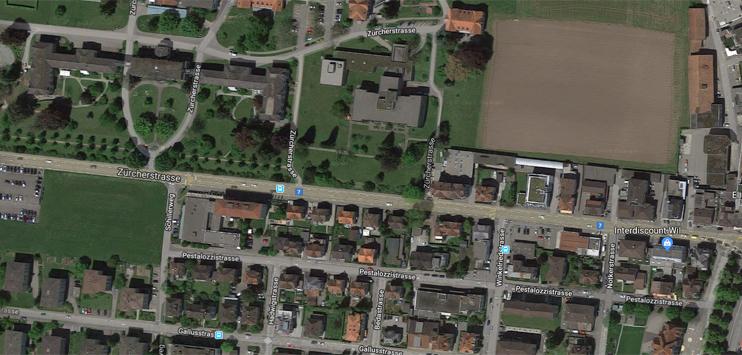 In Wil kam es zu einer Kollision von drei Autos (Screenshot: Google Maps)