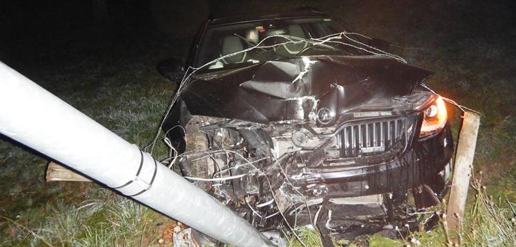 Der Autofahrer blieb unverletzt. (Bild: Kantonspolizei TG)