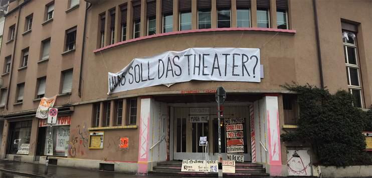 Das besetzte Heilsarmee-Haus in Zürich (Bild: TELE TOP)