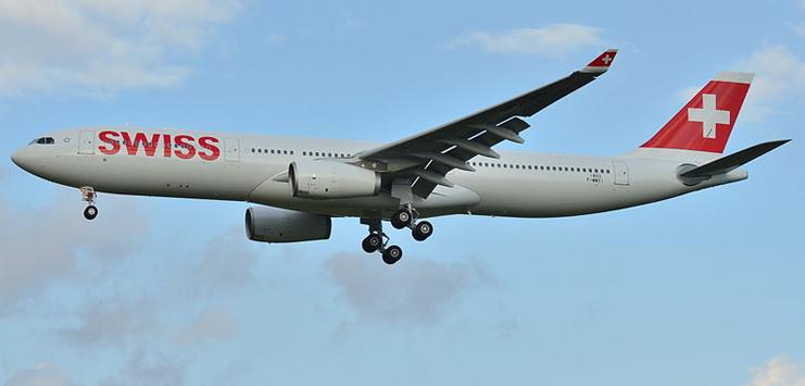 Eine solche Maschine musste den Start abbrechen: Airbus A330 der Swiss (Bild: wikipedia.org/Laurent Errera unter Creative Commons)