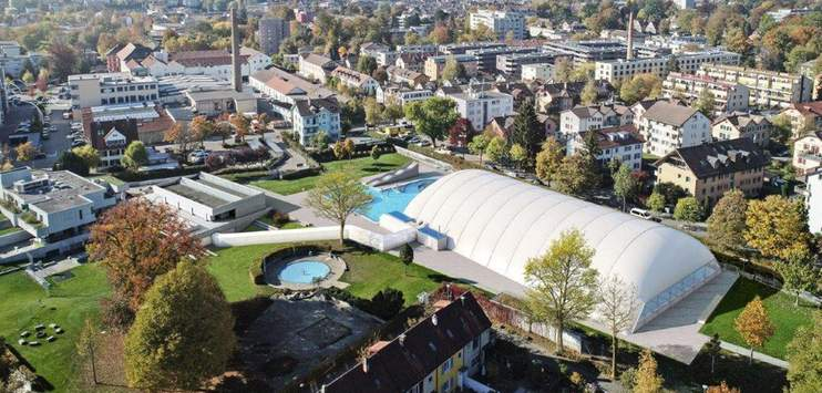 Die Winterthurerinnen und Winterthurer lehnen die Traglufthalle deutlich ab. (Bild: Visualisierung Stadt Winterthur)