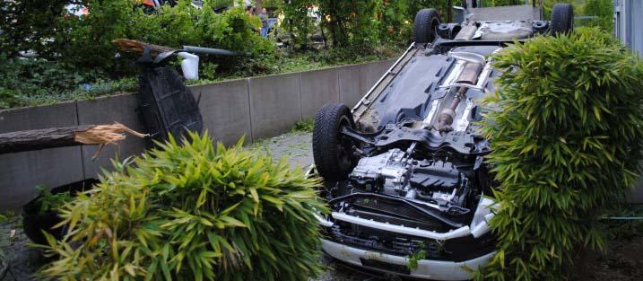 Unfall in Schaffhausen 2017 (Bild: Schaffhauser Polizei)