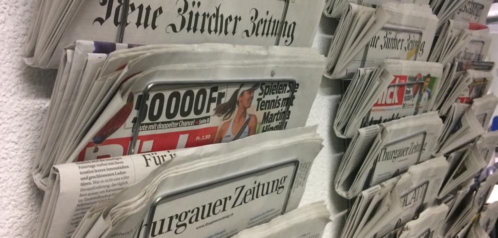 schweizer zeitungen tageszeitung