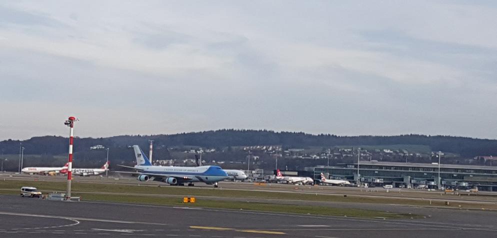 flughafen zürich ankunft air force 1