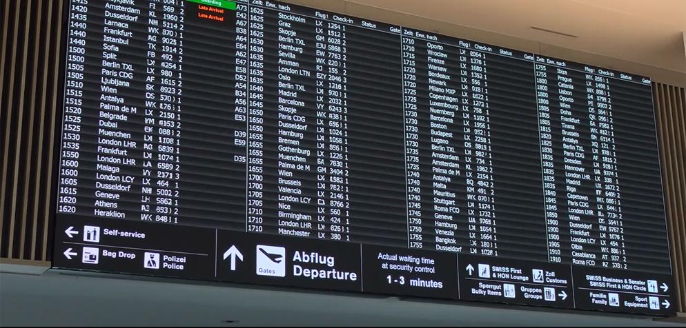 Ostern Bescheren Flughafen Zürich Grossen Passagierandrang