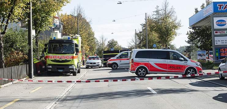Der Vorfall löste am Montag ein Grossaufgebot der Sicherheitskräfte in Winterthur aus. (Bild: Johannes Dietschi/brknews.ch)