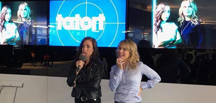 Carol Schuler (l.) freut sich auf die Rolle im «Tatort». (Bild: RADIO TOP/Luca Della Rosa)