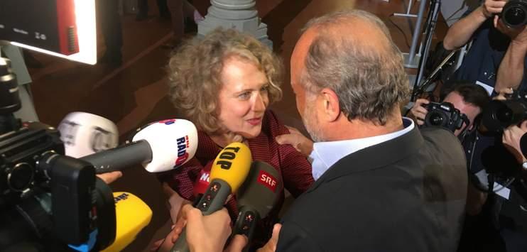 Stadtpräsidentin Corinne Mauch und Stadtrat Filippo Leutenegger am Wahlsonntag. (Bild: RADIO TOP)