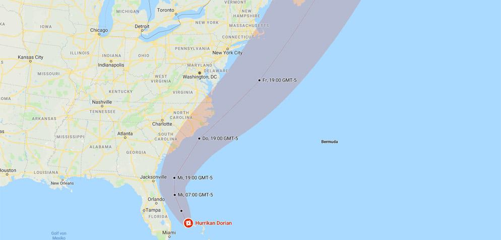 Mindestens fünf Tote durch Hurrikan «Dorian» auf den Bahamas ...