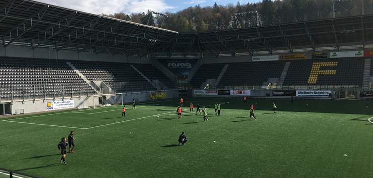 Die Fussball Frauen-Nati trifft im Lipo-Park in Schaffhausen auf Schottland. (Symbolbild: RADIO TOP / Noah Schefer)