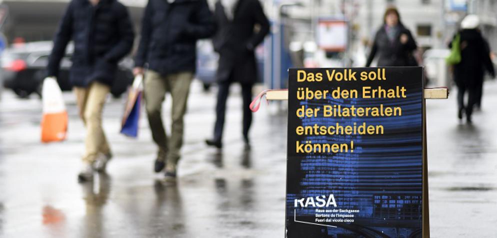Die Initiative «Raus aus der Sackgasse» (RASA) will den Zuwanderungs-Artikel aus der Bundesverfassung streichen. (Bild: initiative-rasa.ch)