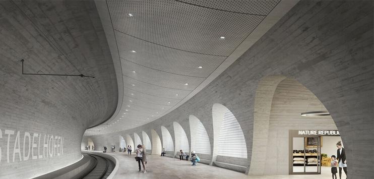 Das Siegerprojekt für das vierte Gleis am Bahnhof Stadelhofen. (Bild: SBB)