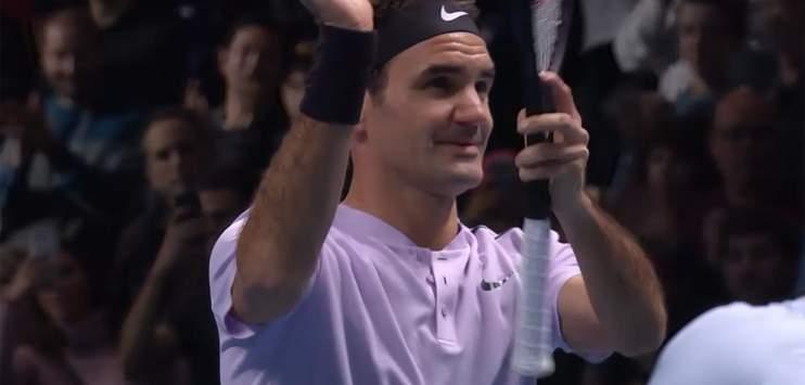 Trotz gutem Start unterliegt Roger Federer dem Belgier David Goffin (Bild: Screenshot srf)