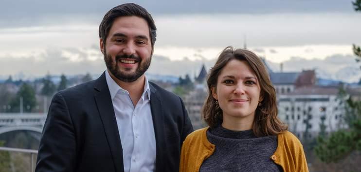 Die ehemaligen Jungsozialisten Mattea Meyer und Cédric Wermuth kandidieren gemeinsam für das SP-Parteipräsidium. (Bild: matteameyer.ch)