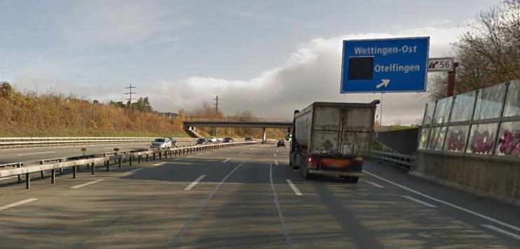 Der Autofahrer war auf der A1 in Richtung Zürich unterwegs. (Bild: Screenshot Google Maps)
