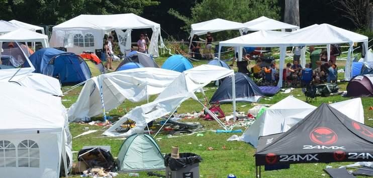 92 Prozent der Zelte wurden von den Besuchern wieder mit genommen. (Bild: RADIO TOP/Marija Lepir)
