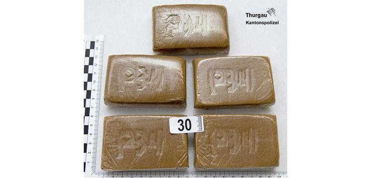 Die sichergestellten Drogen sind vernichtet worden (Bild: Kantonspolizei Thurgau)