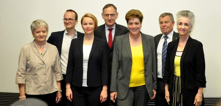 Die Departemente im Zürcher Regierungsrat wurden verteilt. (Bild: twitter.com/Kanton Zürich)