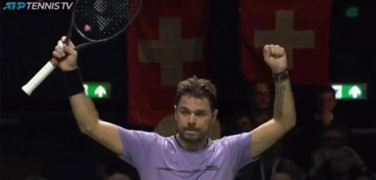 Stan Wawrinka (ATP 68) erreicht beim ATP-500-Turnier in Rotterdam die 2. Runde (Bild: Screenshot ATP Tennis TV)
