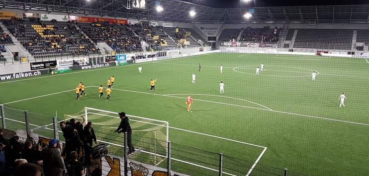 Das Vermächtnis von Aniello Fontana: Das neue Fussballstadion «Lipo Park». (RADIO TOP / Gabriel Wunderli)