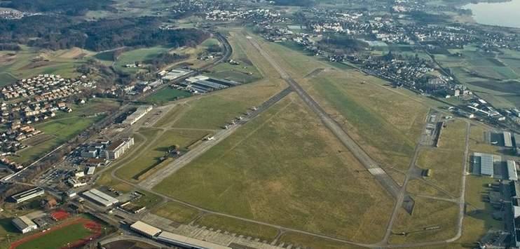 Der Flughafen Dübendorf aus der Vogelperspektive(Bild: twitter.com/BAZL_OFAC_UFAC)