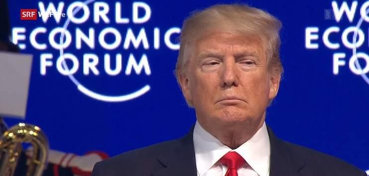 Trump war im letzten Jahr zum ersten Mal am WEF. (Bild: SRF Screenshot)