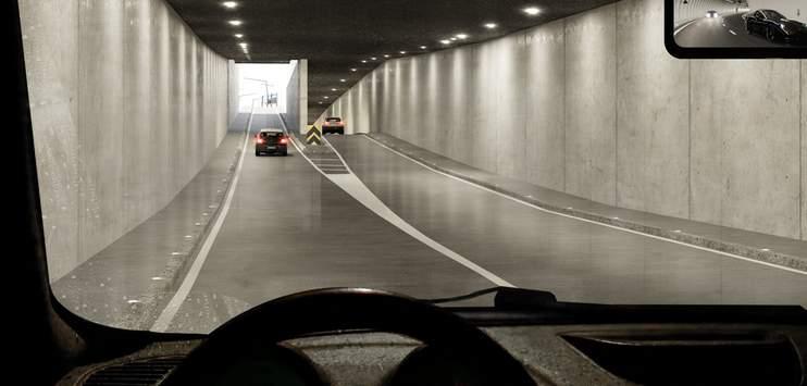 Eine Visualisierung des Rosengartentunnels (rosengarten-zuerich.ch/Architron)